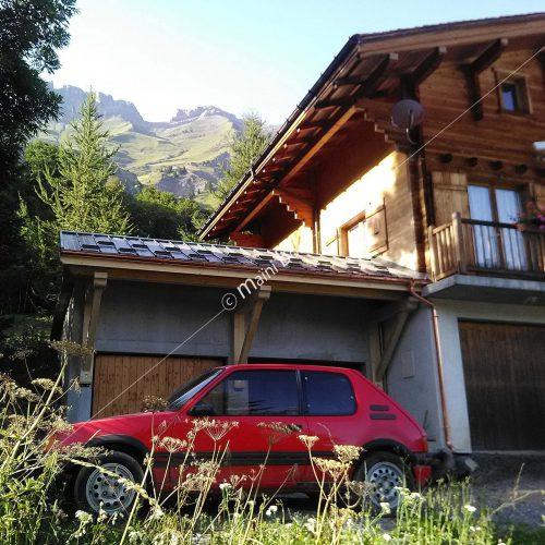 création d'une avancée de toit sur garage