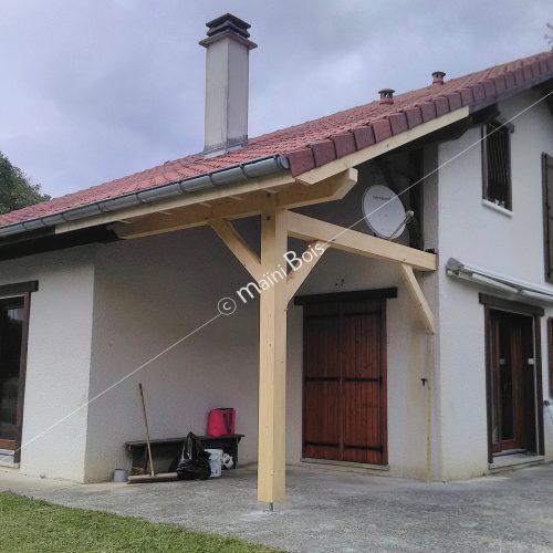 future création d'avancée de toit sur terrasse